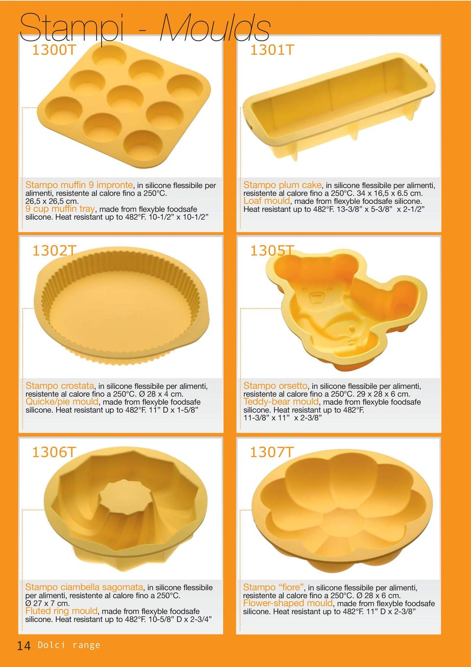 Loaf mould, made from flexyble foodsafe silicone. Heat resistant up to 482 F.