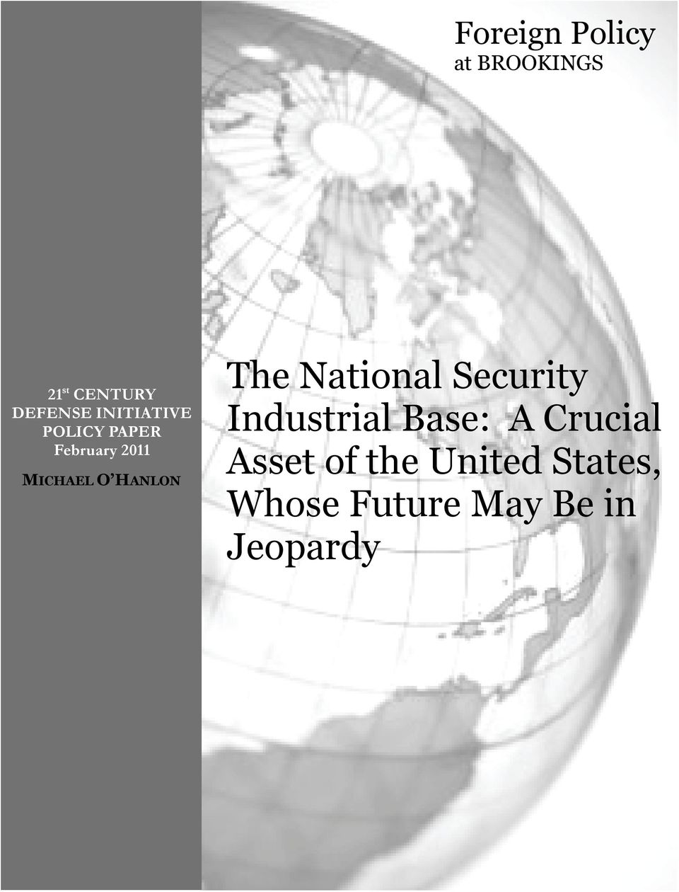 HANLON The National Security Industrial Base: A