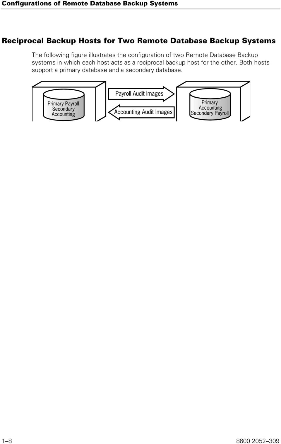 Remote Database Backup systems in which each host acts as a reciprocal backup host for