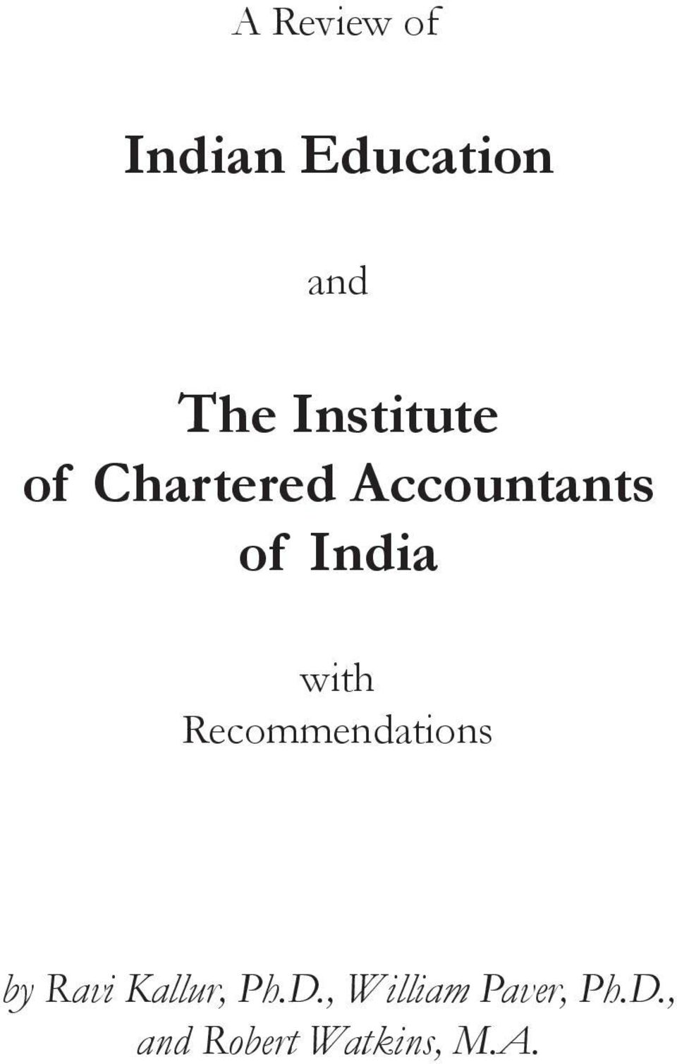 India with Recommendations by Ravi Kallur,