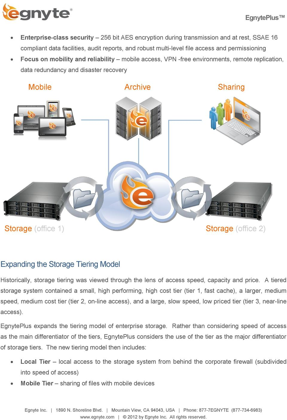 Storage Tiering Model Historically, storage tiering was viewed through the lens of access speed, capacity and price.
