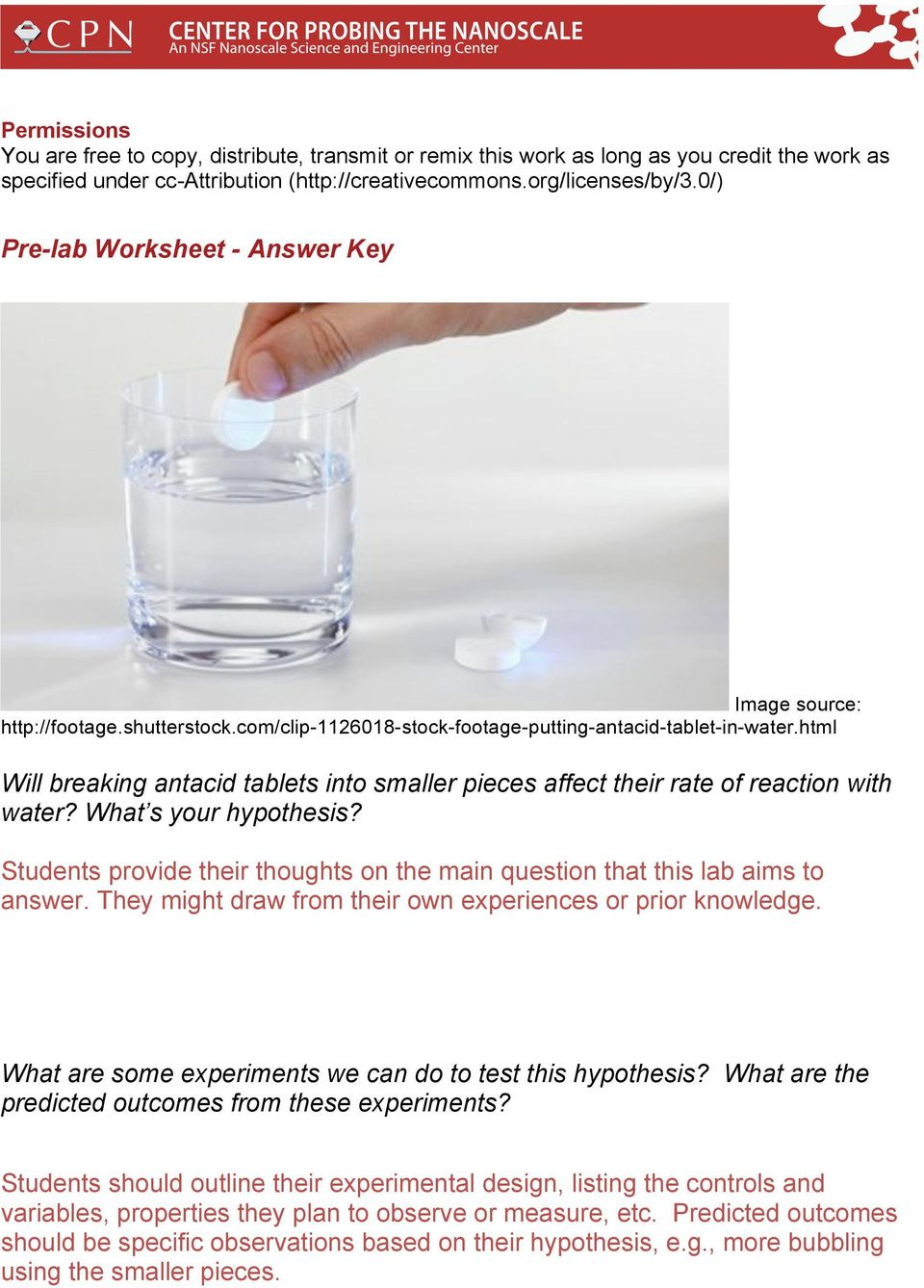 html Will breaking antacid tablets into smaller pieces affect their rate of reaction with water? What s your hypothesis?