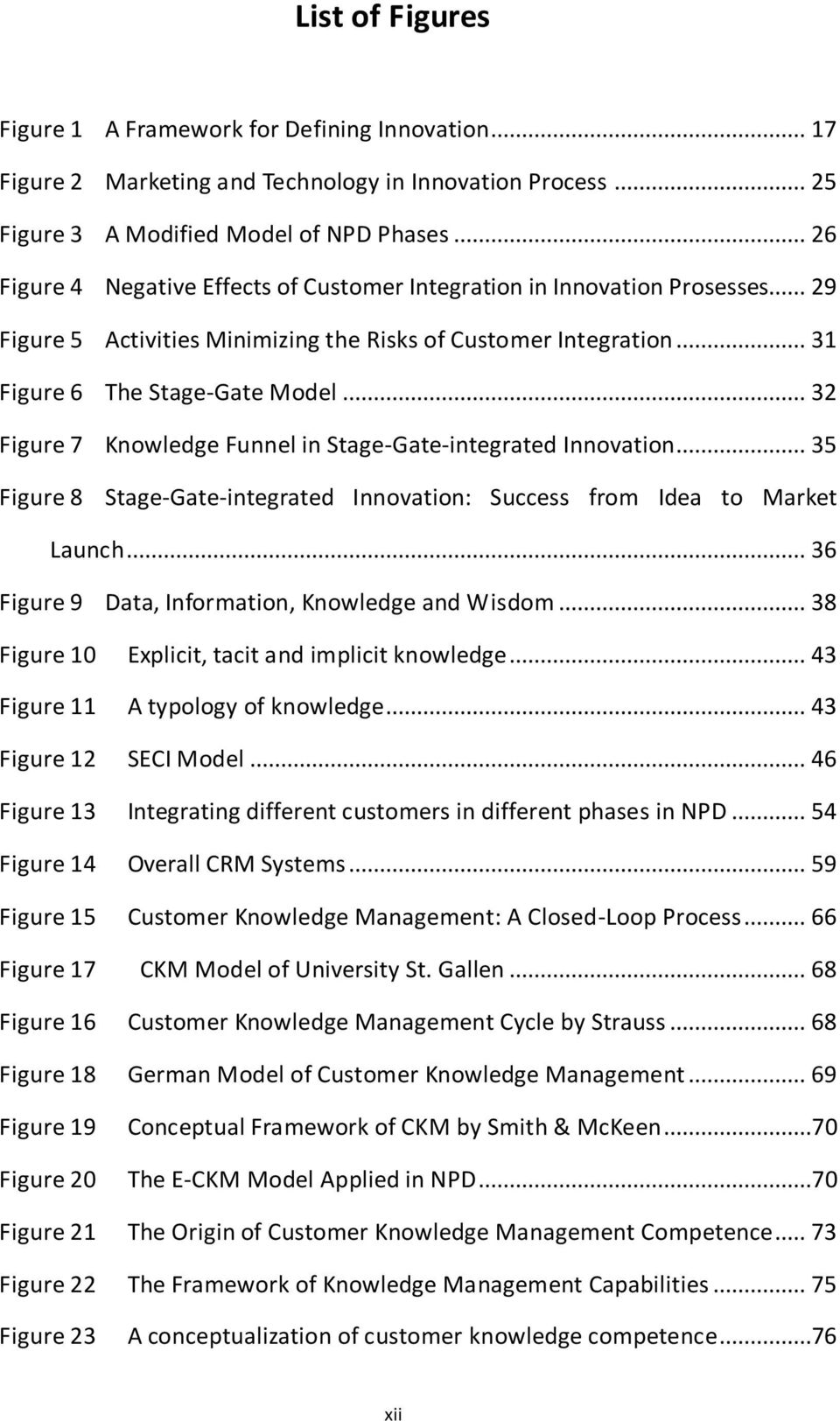 .. 32 Figure 7 Knowledge Funnel in Stage-Gate-integrated Innovation... 35 Figure 8 Stage-Gate-integrated Innovation: Success from Idea to Market Launch.