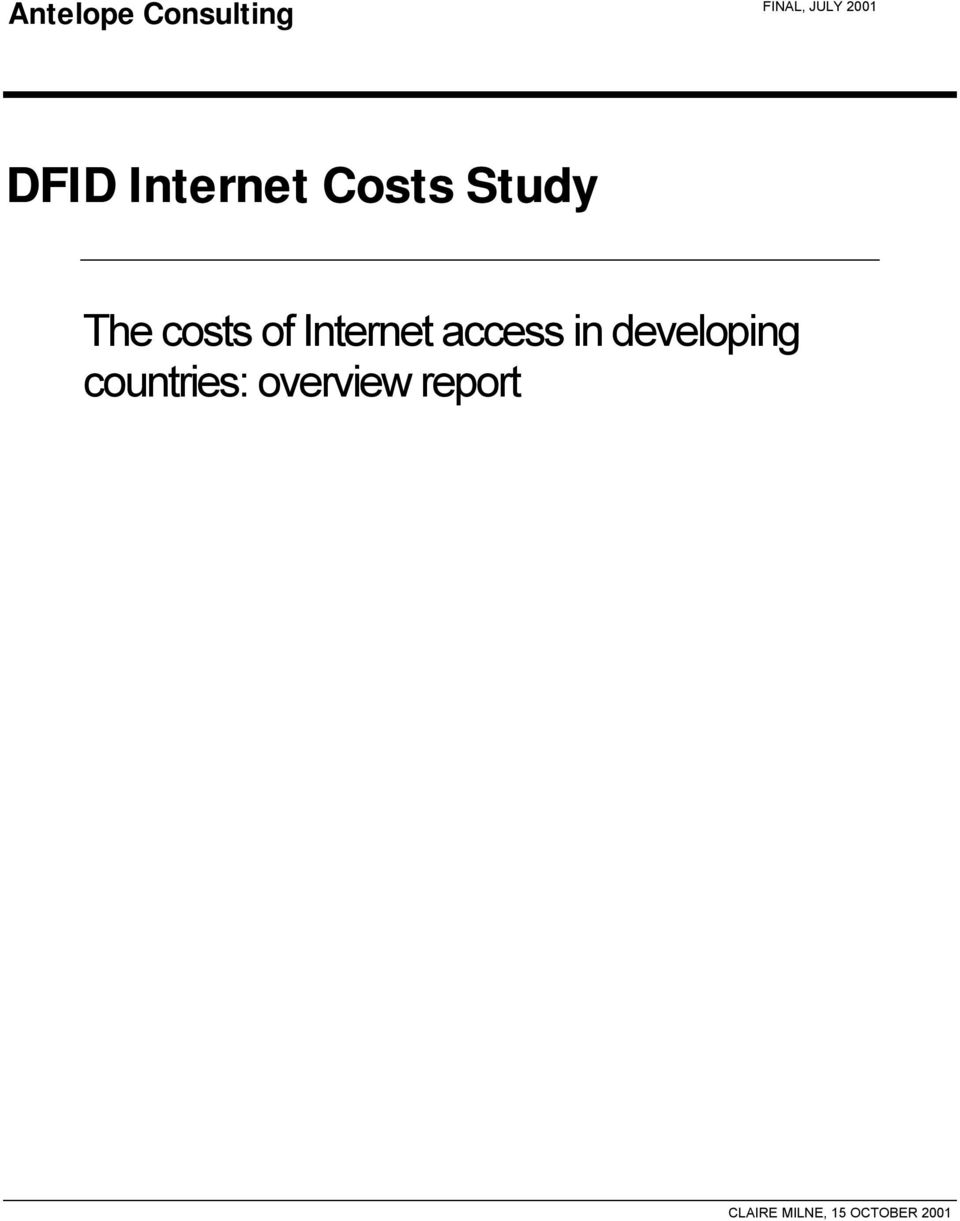 The costs of Internet access in