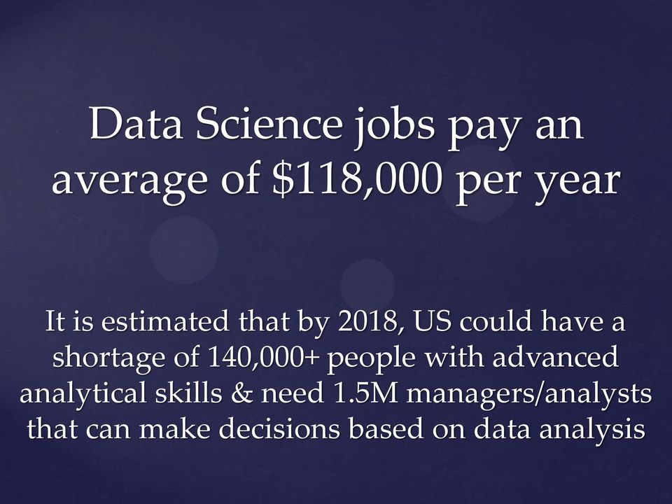 140,000+ people with advanced analytical skills & need 1.