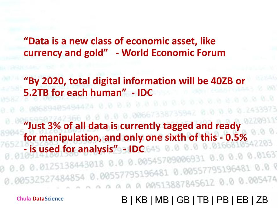 2TB for each human - IDC Just 3% of all data is currently tagged and ready for
