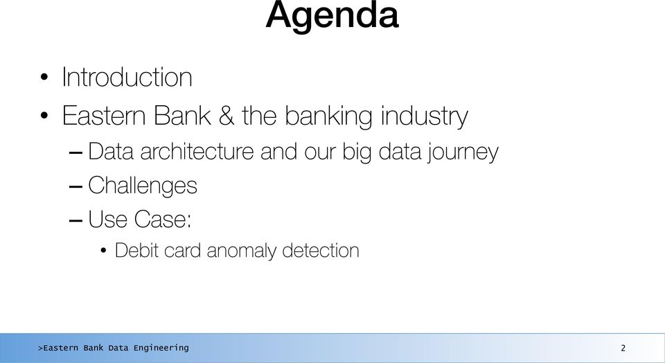 banking industry Data architecture