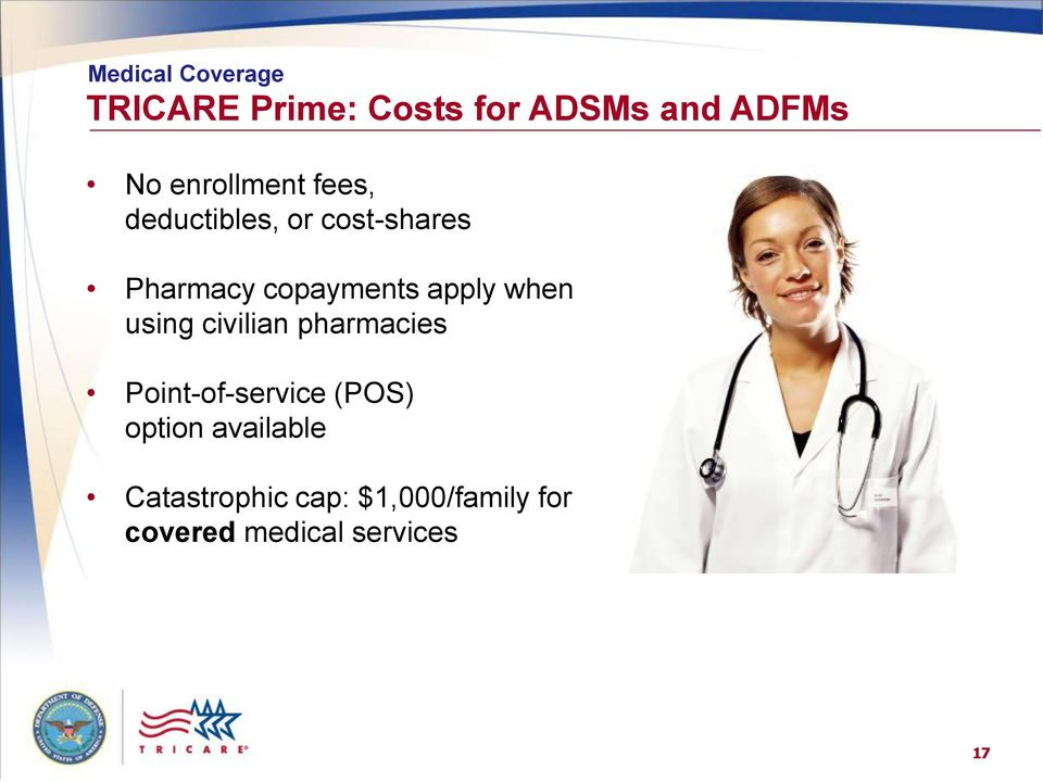 using civilian pharmacies Point-of-service (POS) option