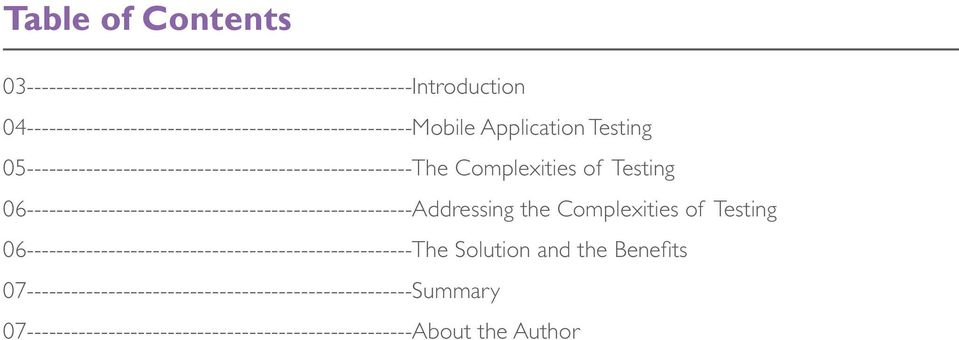 Complexities of Testing 06----------------------------------------------------Addressing the Complexities of Testing