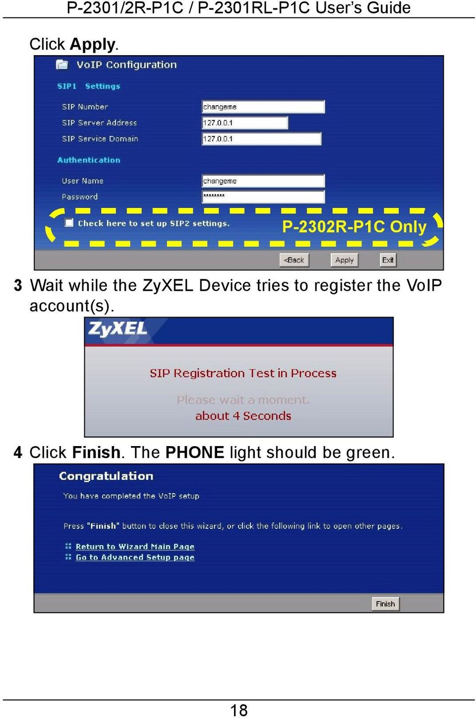 ZyXEL Device tries to register the