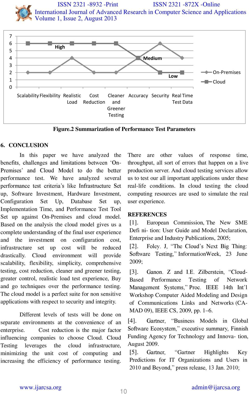 CONCLUSION In this paper we have analyzed the benefits, challenges and limitations between On- Premises and Cloud Model to do the better performance test.