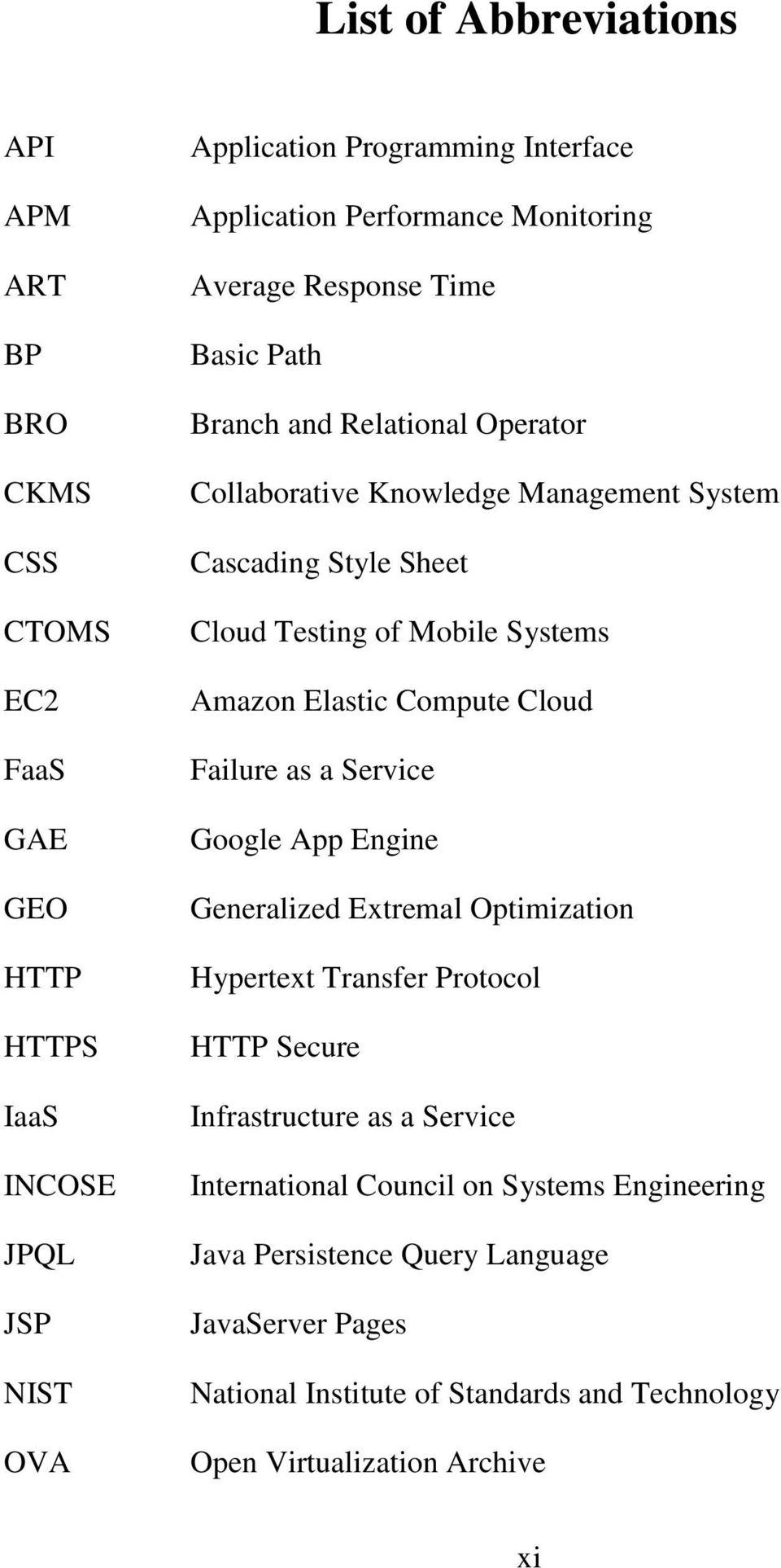Mobile Systems Amazon Elastic Compute Cloud Failure as a Service Google App Engine Generalized Extremal Optimization Hypertext Transfer Protocol HTTP Secure