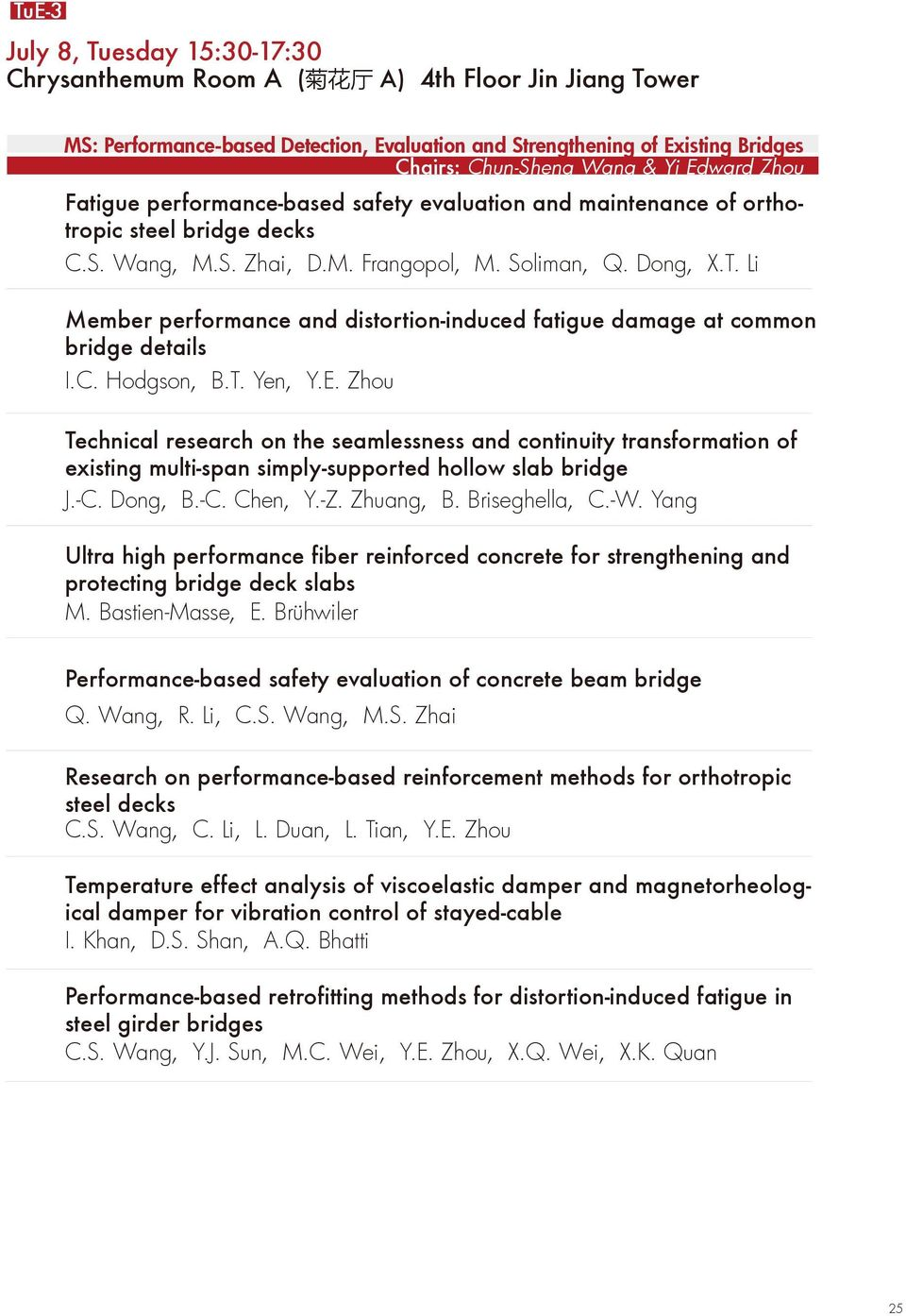 Li Member performance and distortion-induced fatigue damage at common bridge details I.C. Hodgson, B.T. Yen, Y.E.