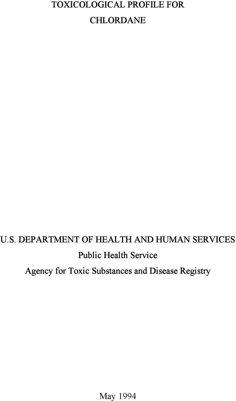 Public Health Service Agency for Toxic