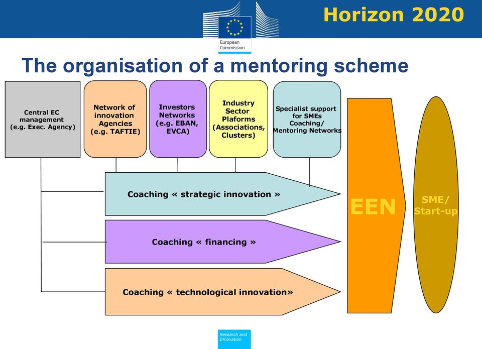 Industry Sector Plaforms (Associations, Clusters) Specialist support for SMEs Coaching/ Mentoring