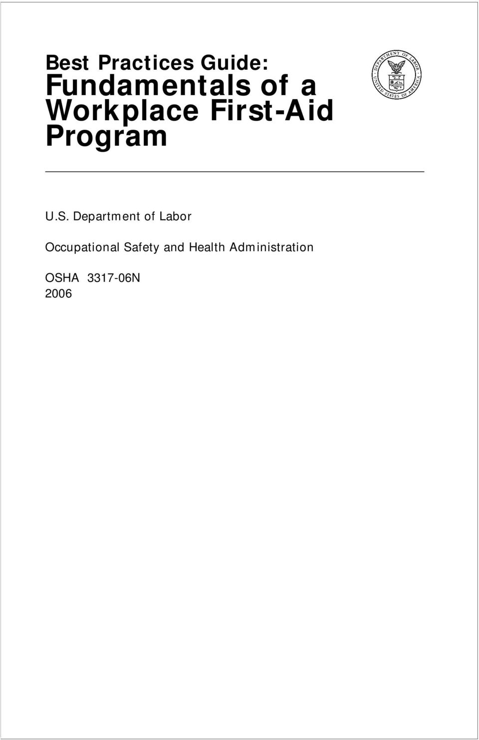 Department of Labor Occupational Safety