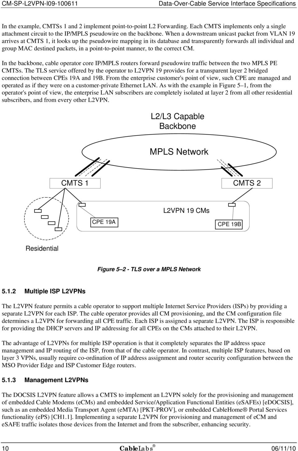 point-to-point manner, to the correct CM. In the backbone, cable operator core IP/MPLS routers forward pseudowire traffic between the two MPLS PE CMTSs.