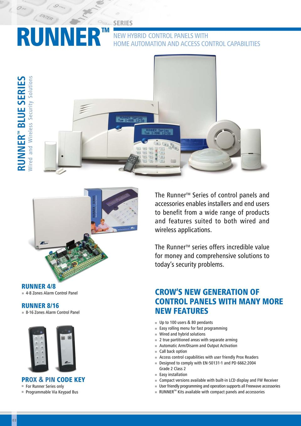 wide rage of products ad features suited to both wired ad wireless applicatios. The Ruer TM series offers icredible value for moey ad comprehesive solutios to today s security problems.