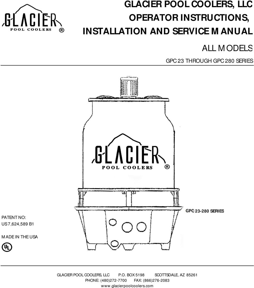 GPC 23-280 SERIES MADE IN THE USA GLACIER POO