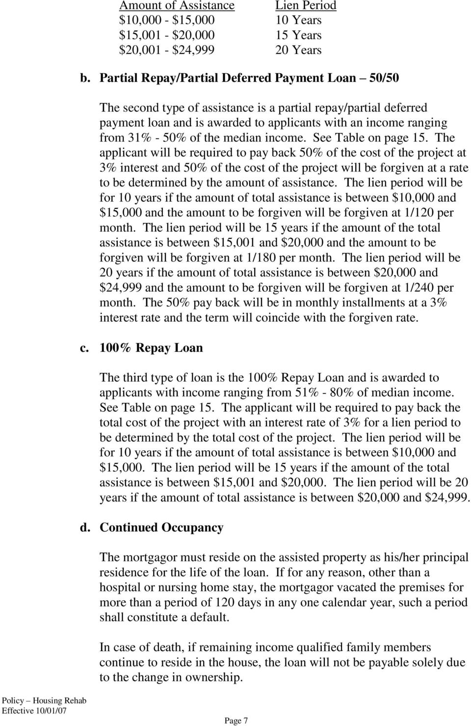 the median income. See Table on page 15.