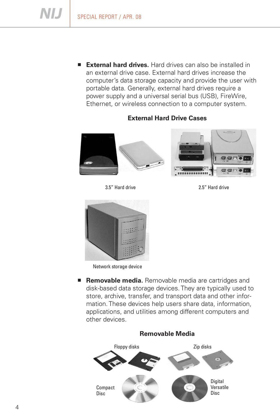 Generally, external hard drives require a power supply and a universal serial bus (USB), FireWire, Ethernet, or wireless connection to a computer system. External Hard Drive Cases 3.5 Hard drive 2.
