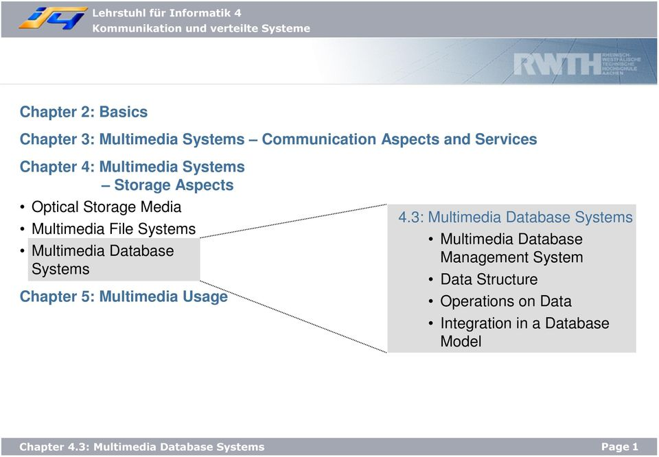 Database Systems Chapter 5: Multimedia Usage 4.