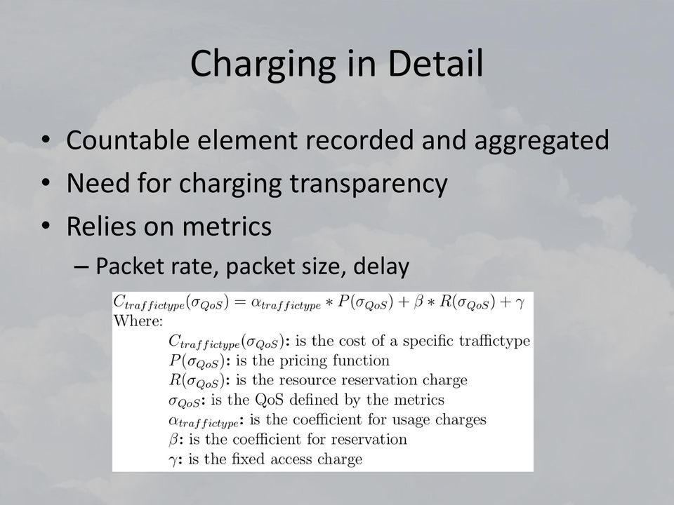 Need for charging transparency
