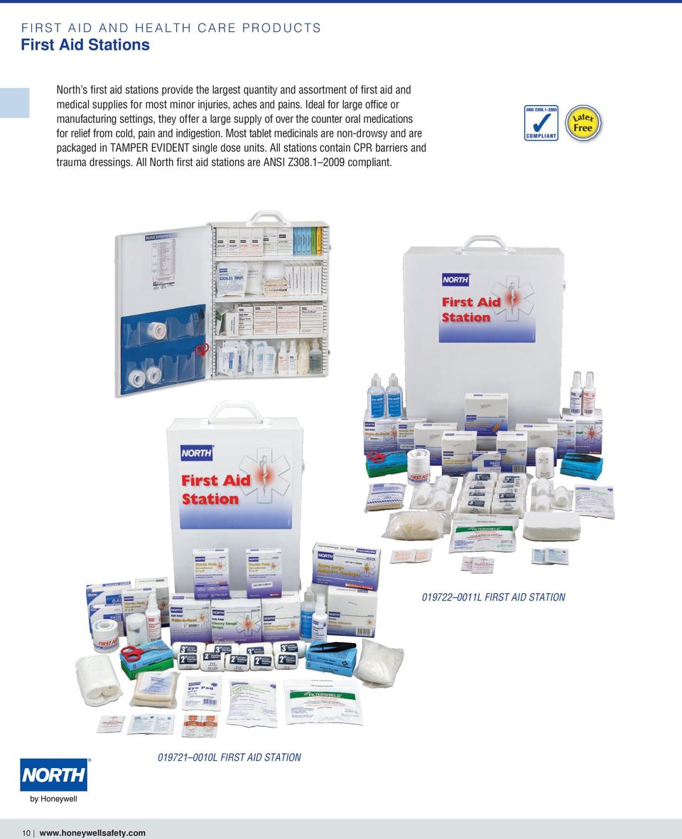 Ideal for large office or manufacturing settings, they offer a large supply of over the counter oral medications for relief from cold, pain and