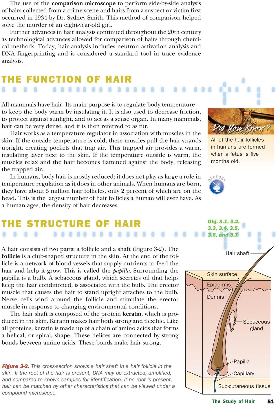 Further advances in hair analysis continued throughout the 20th century as technological advances allowed for comparison of hairs through chemical methods.