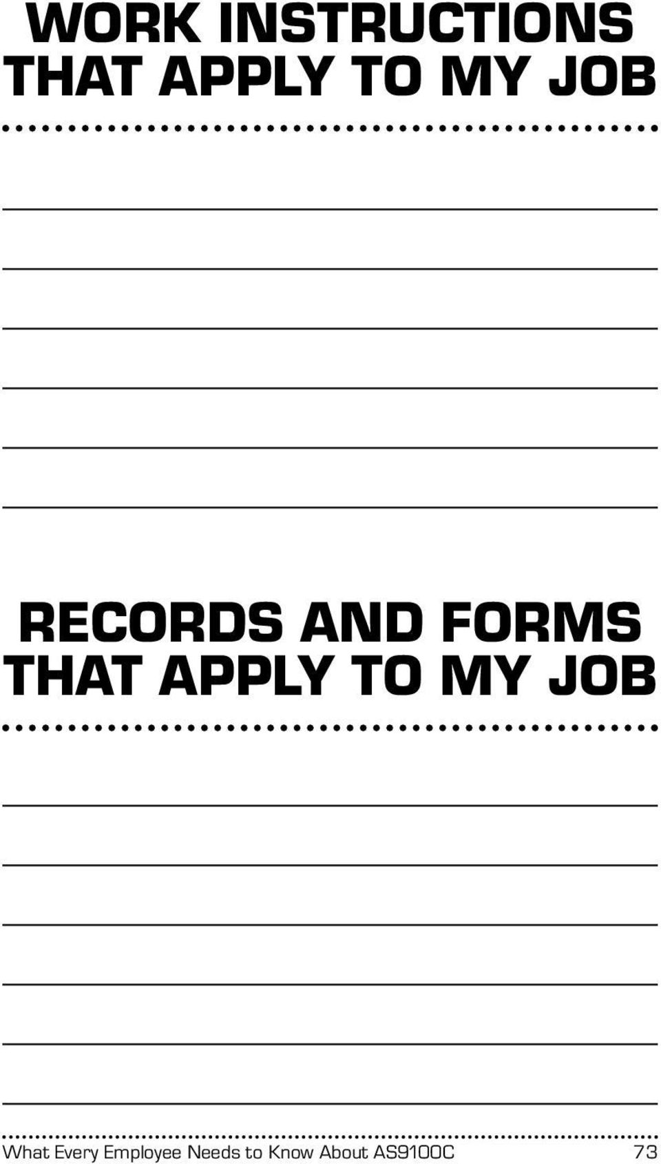 APPLY TO MY JOB What Every