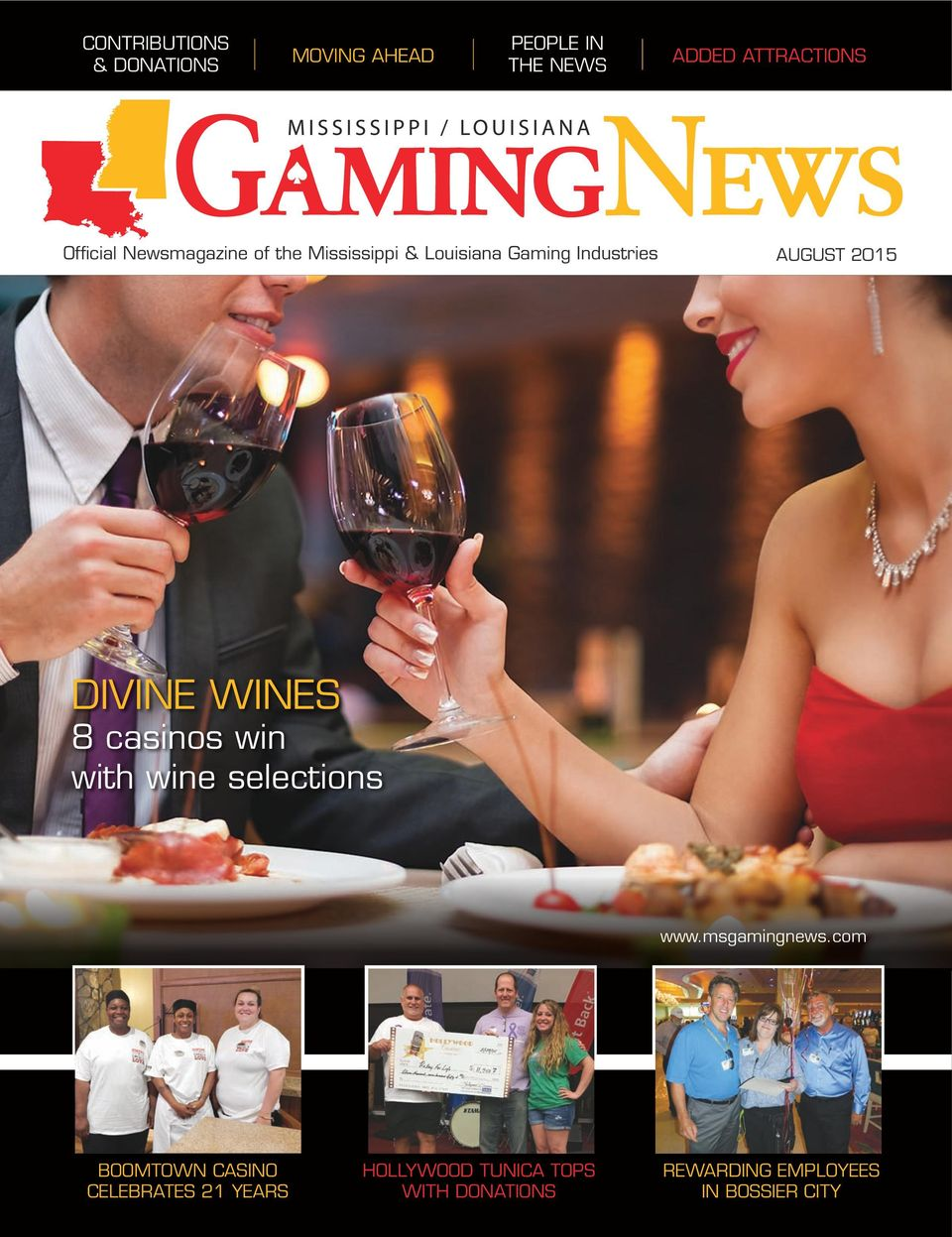 DIVINE WINES 8 casinos win with wine selections www.msgamingnews.