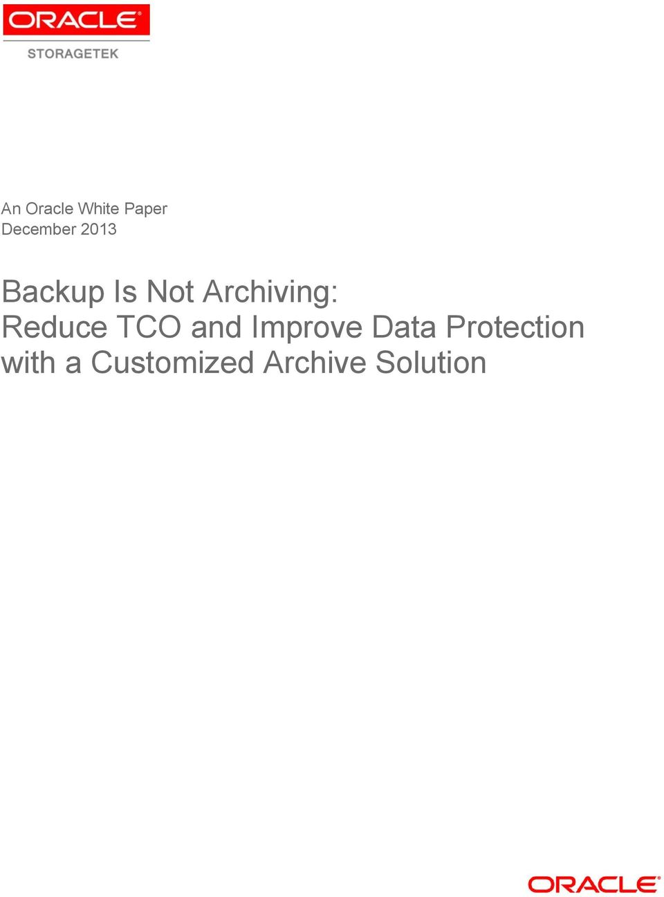 Reduce TCO and Improve Data