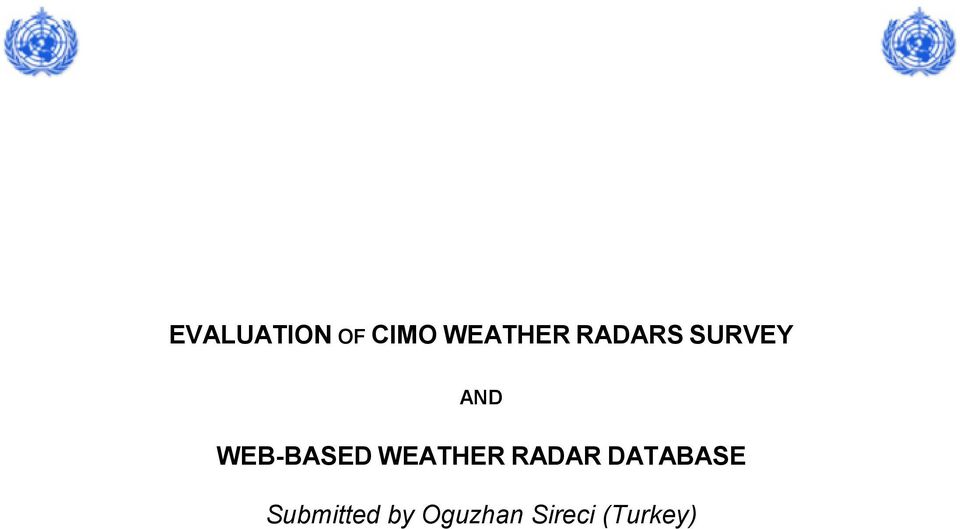 WEATHER RADAR DATABASE