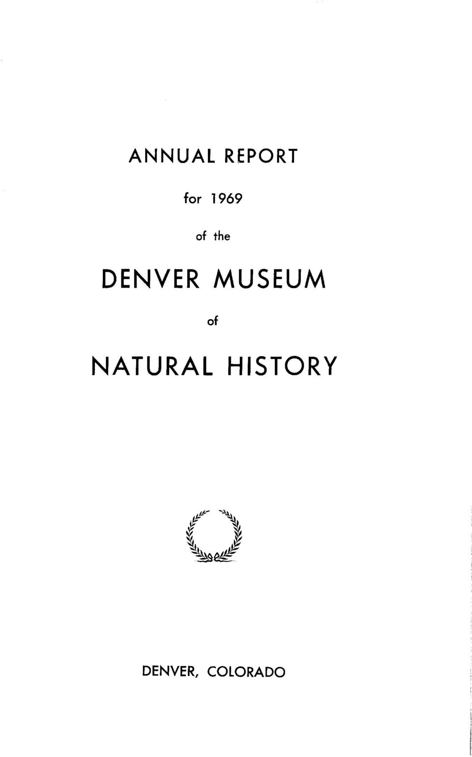 MUSEUM of NATURAL