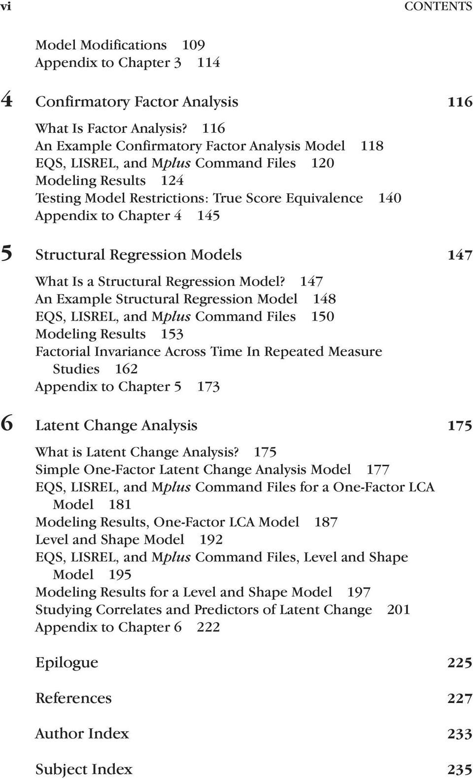 Structural Regression Models 147 What s a Structural Regression Model?
