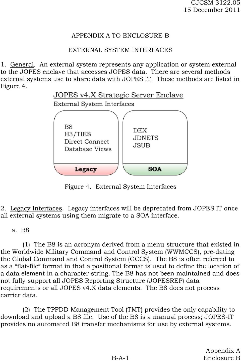 Legacy interfaces will be deprecated from JOPES IT once al