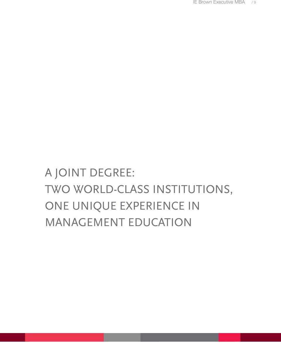 INSTITUTIONS, ONE UNIQUE