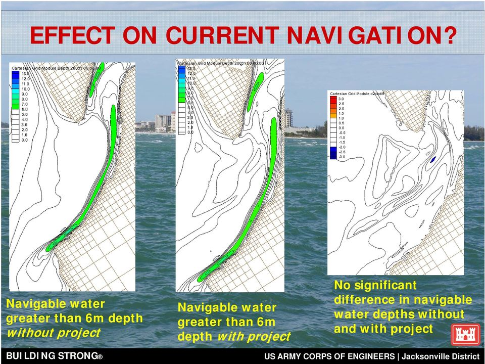 project Navigable water greater than 6m depth with