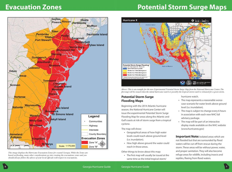 Above: This is an example for the new Experimental Potential Storm Surge Map from the National Hurricane Center.