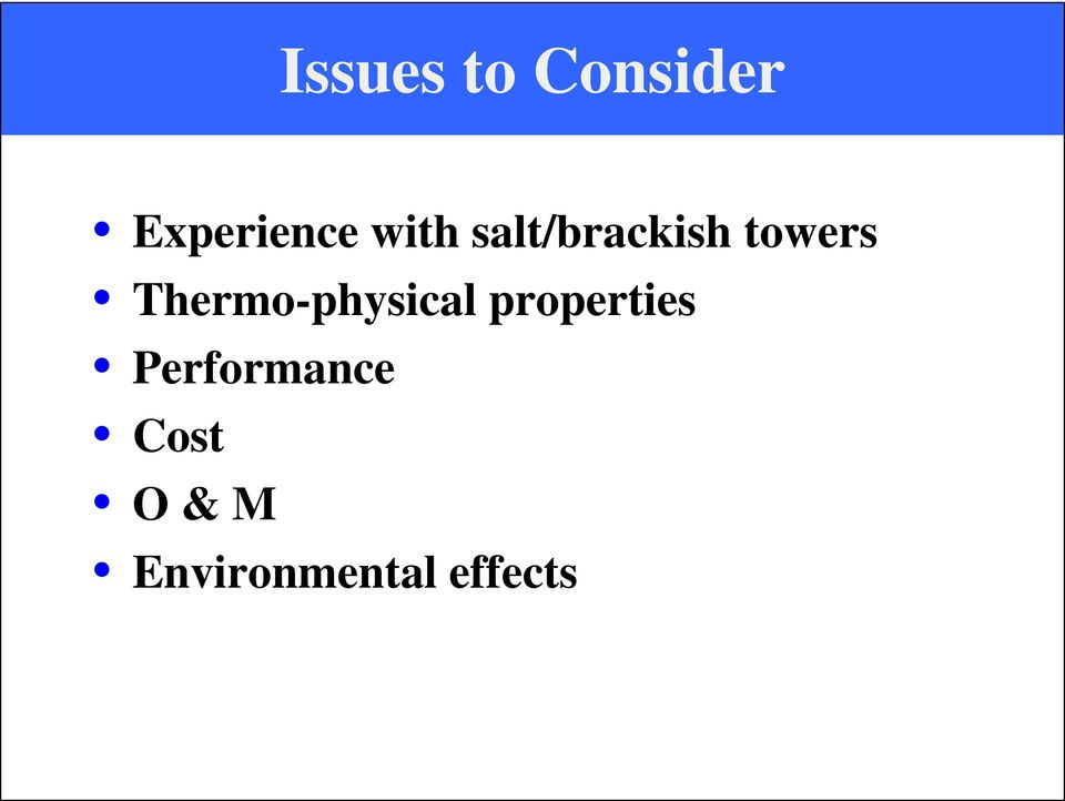 Thermo-physical properties