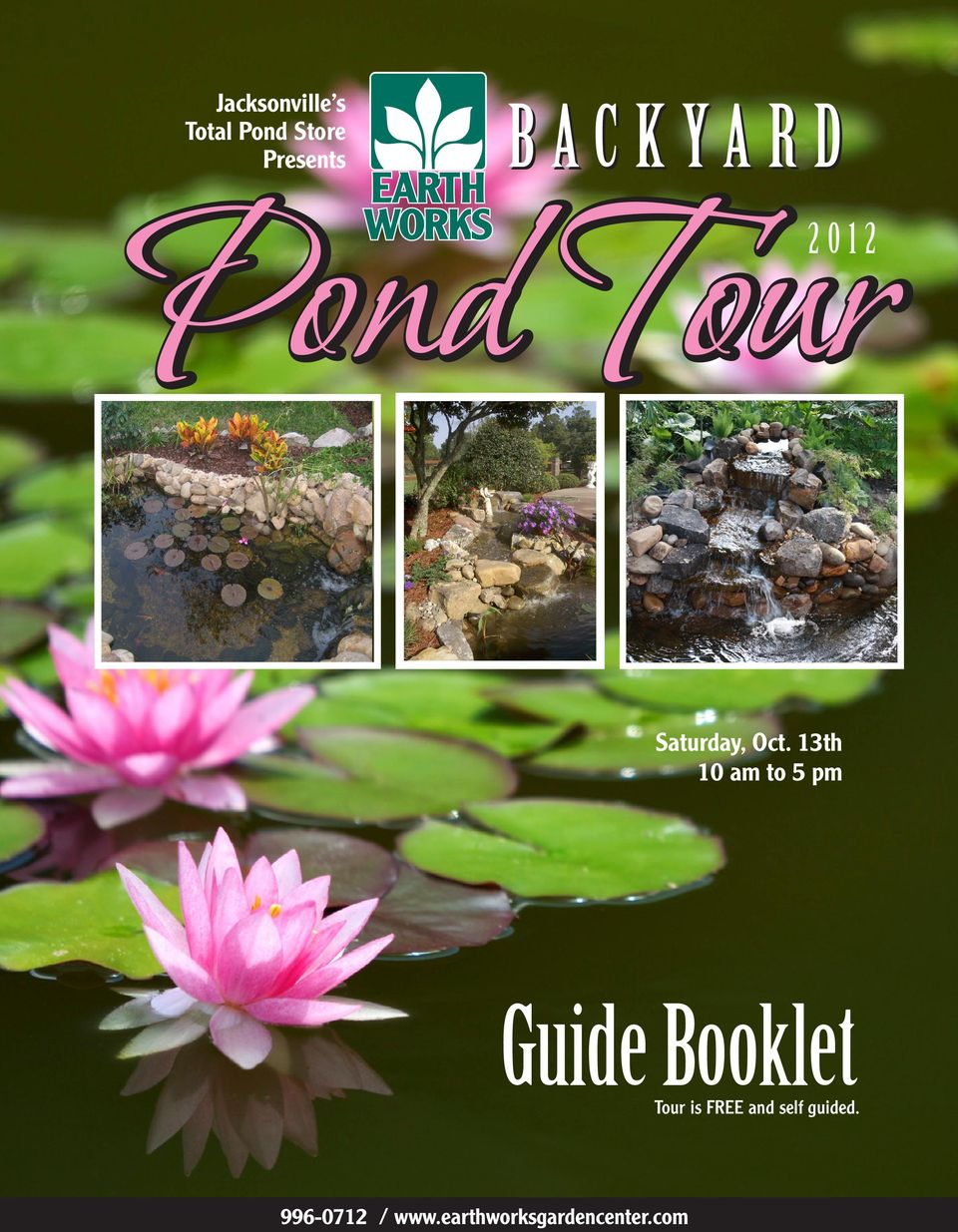 13th 10 am to 5 pm Guide Booklet Tour is FREE
