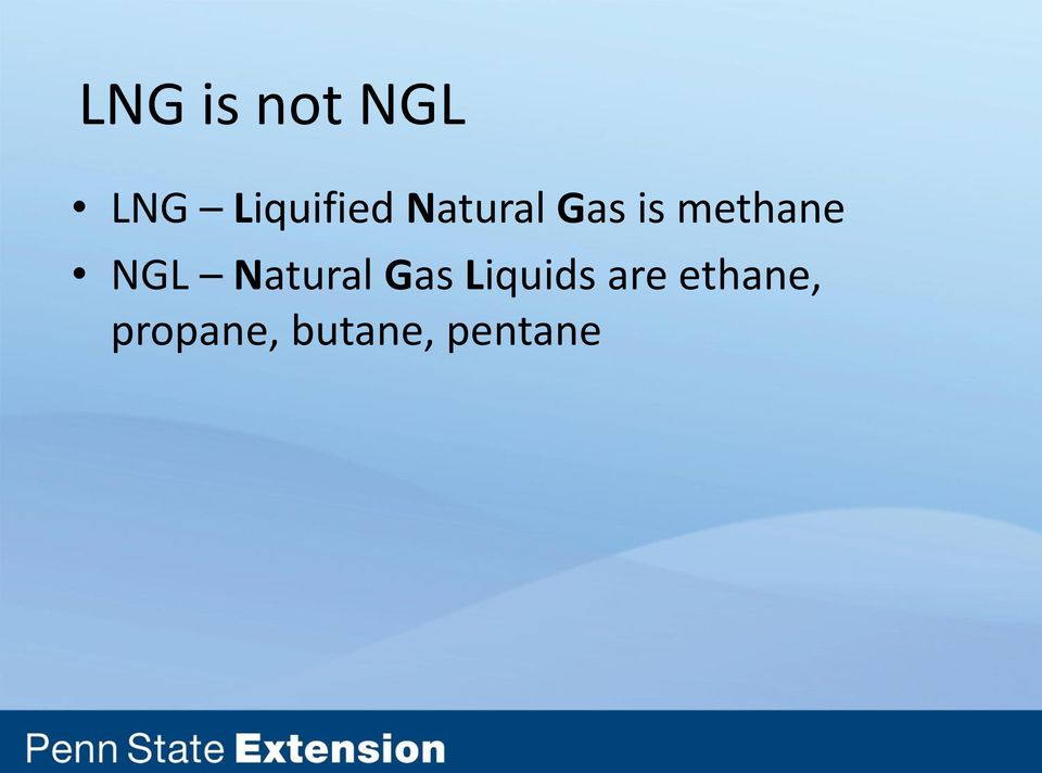 methane NGL Natural Gas