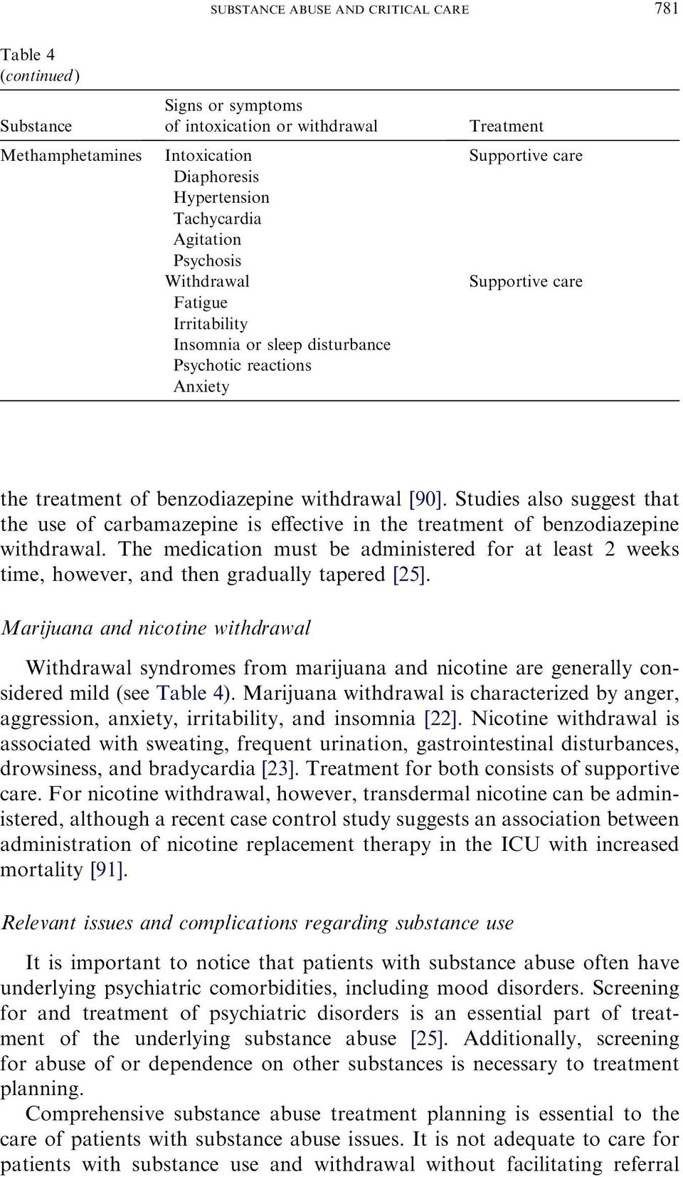 Studies also suggest that the use of carbamazepine is effective in the treatment of benzodiazepine withdrawal.