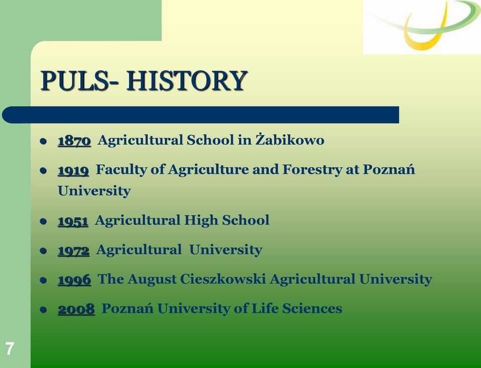 High School 1972 Agricultural University 1996 The August