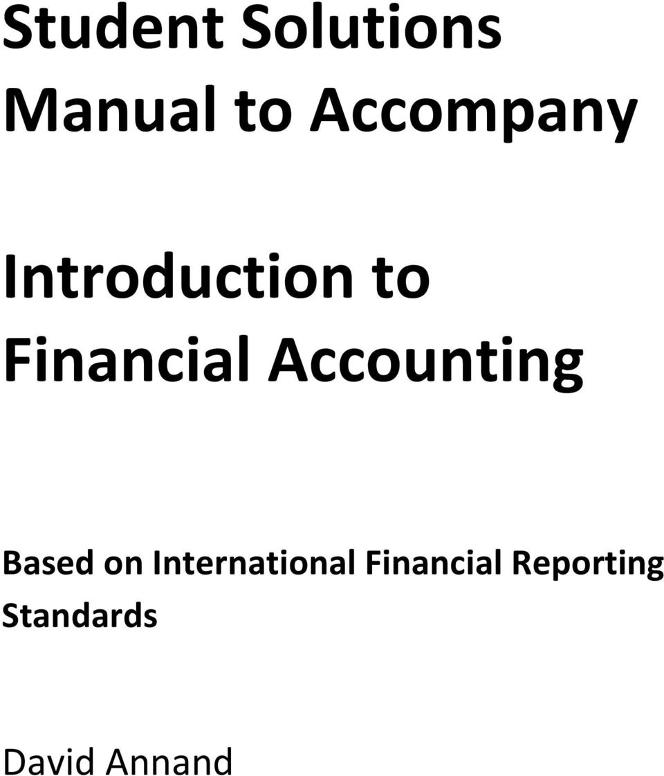 Financial Accounting Based on