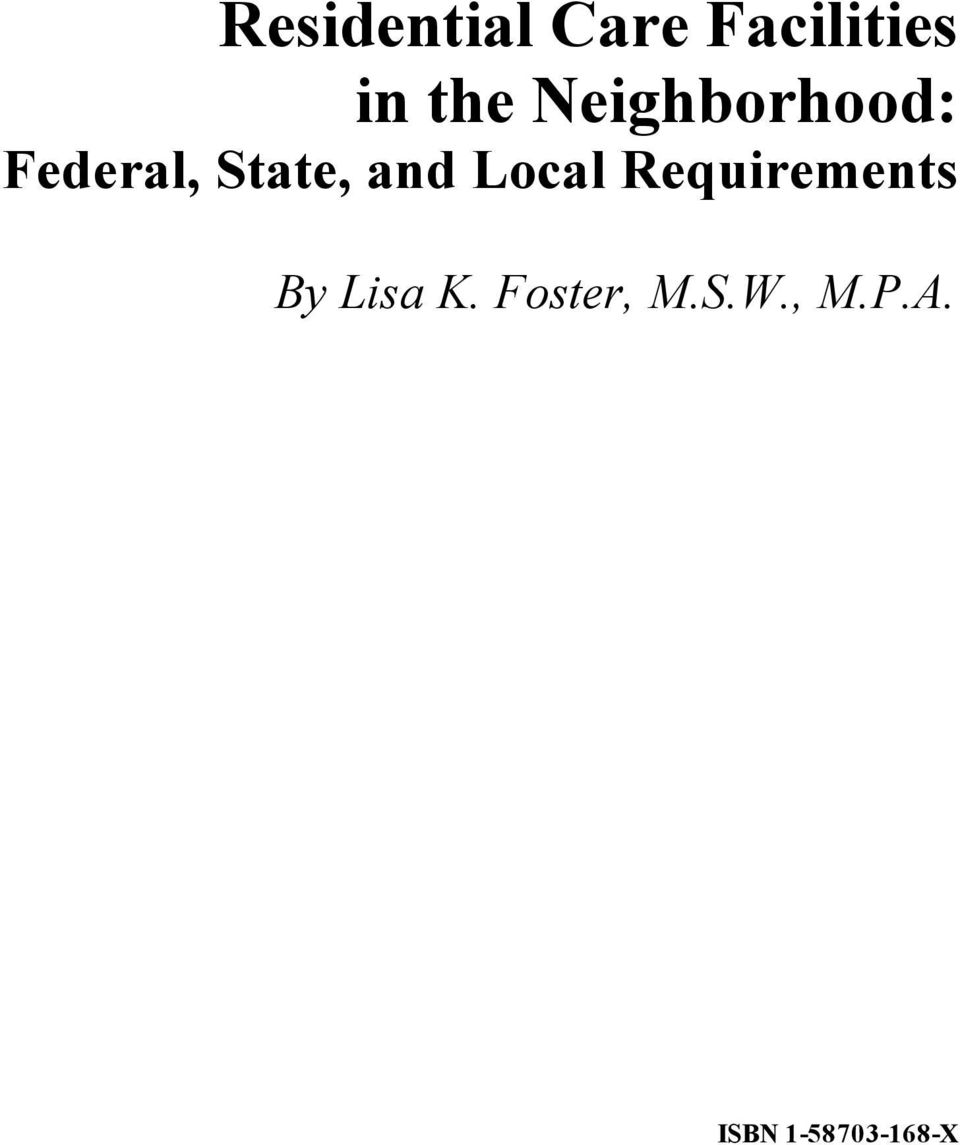 Local Requirements By Lisa K.