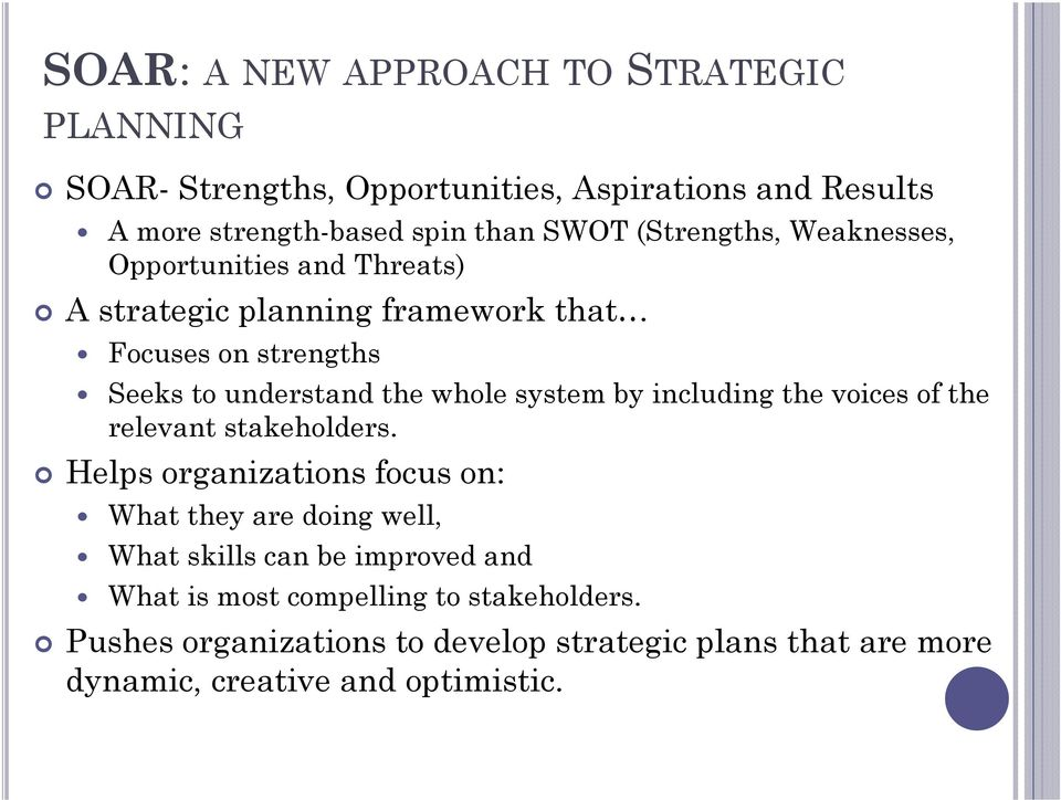 system by including the voices of the relevant stakeholders.