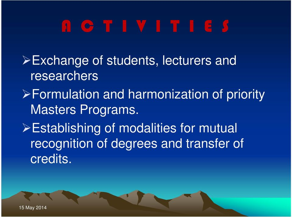 priority Masters Programs.