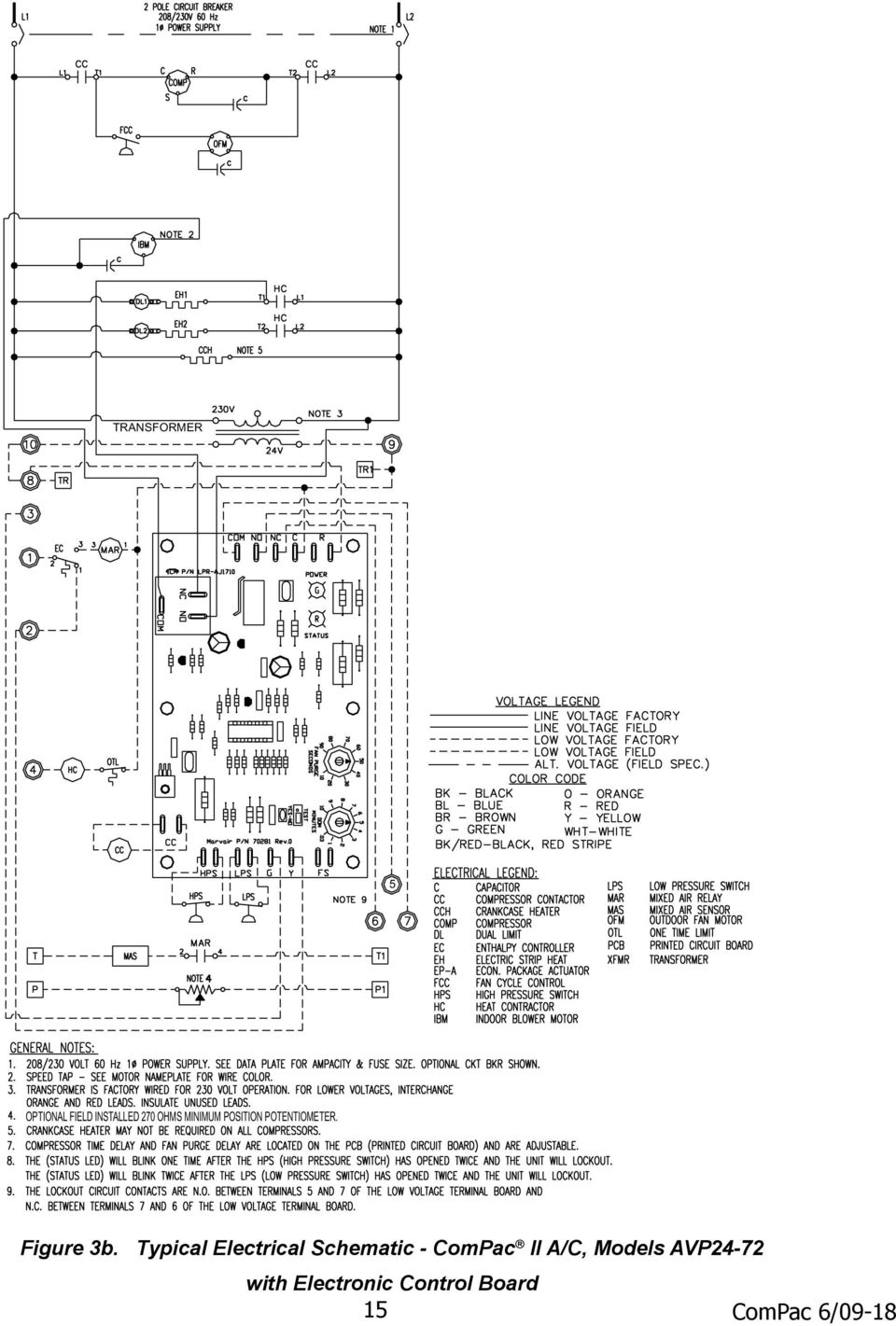 compac i and compac ii air conditioner product manual pdf typical electrical schematic compac ii a c