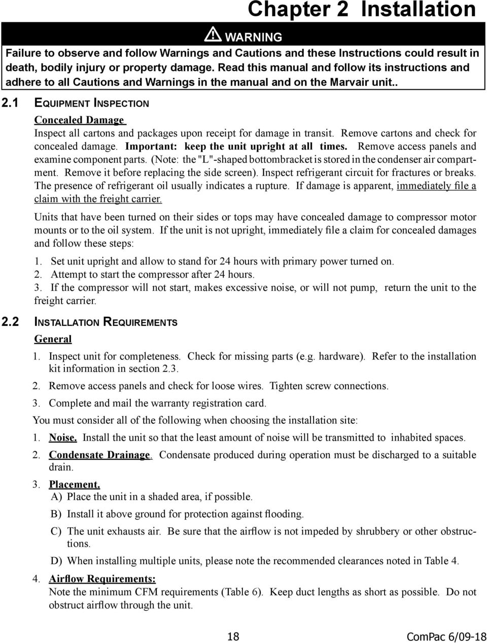 compac i and compac ii air conditioner product manual pdf remove it before replacing the side screen inspect refrigerant circuit for fractures or breaks